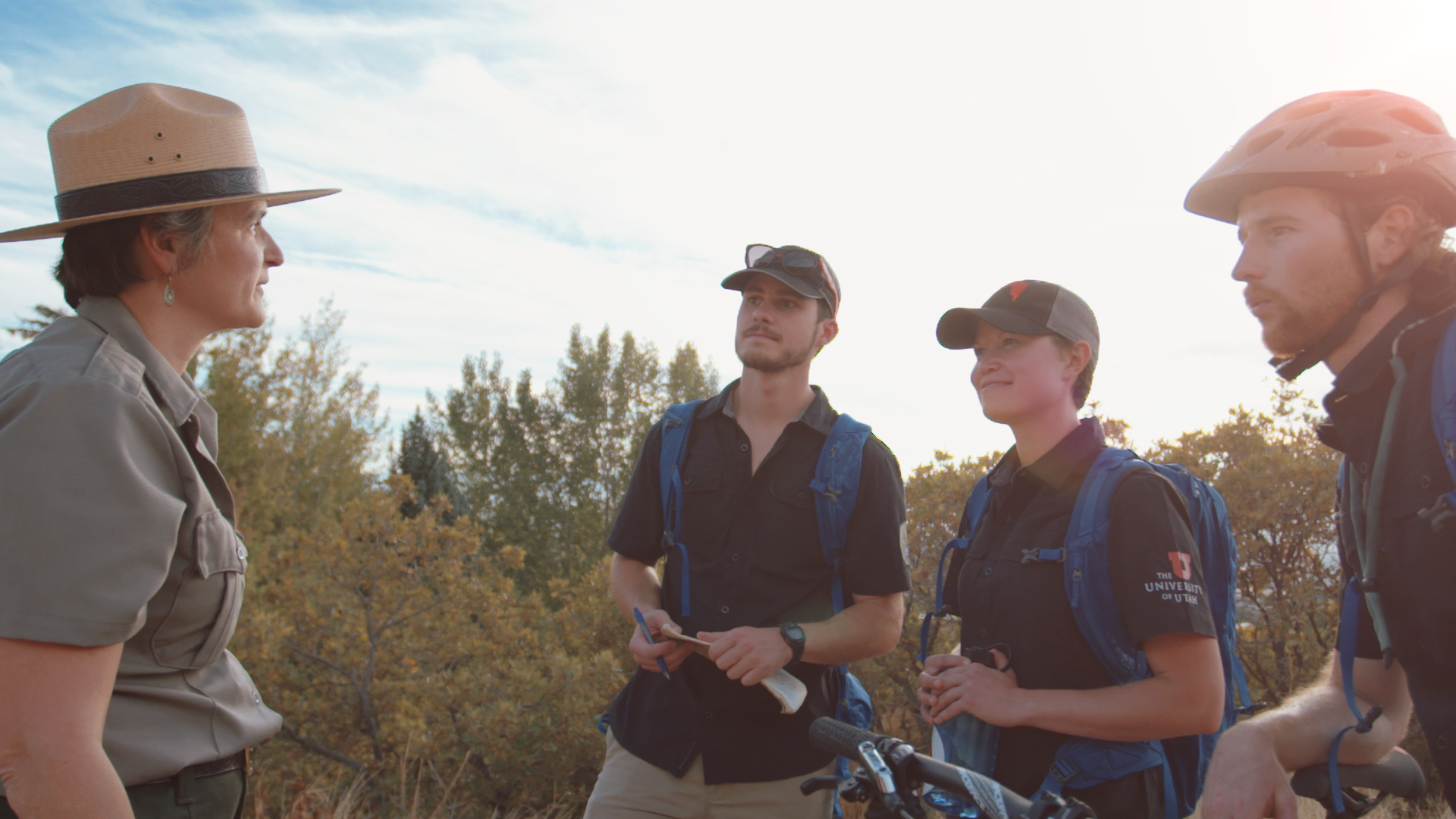 The University of Utah's Department of Parks, Recreation, and Tourism in partnership with the National Park Service developed an Urban Rangers program servicing parts of the 100-mile Bonneville Shoreline Trail