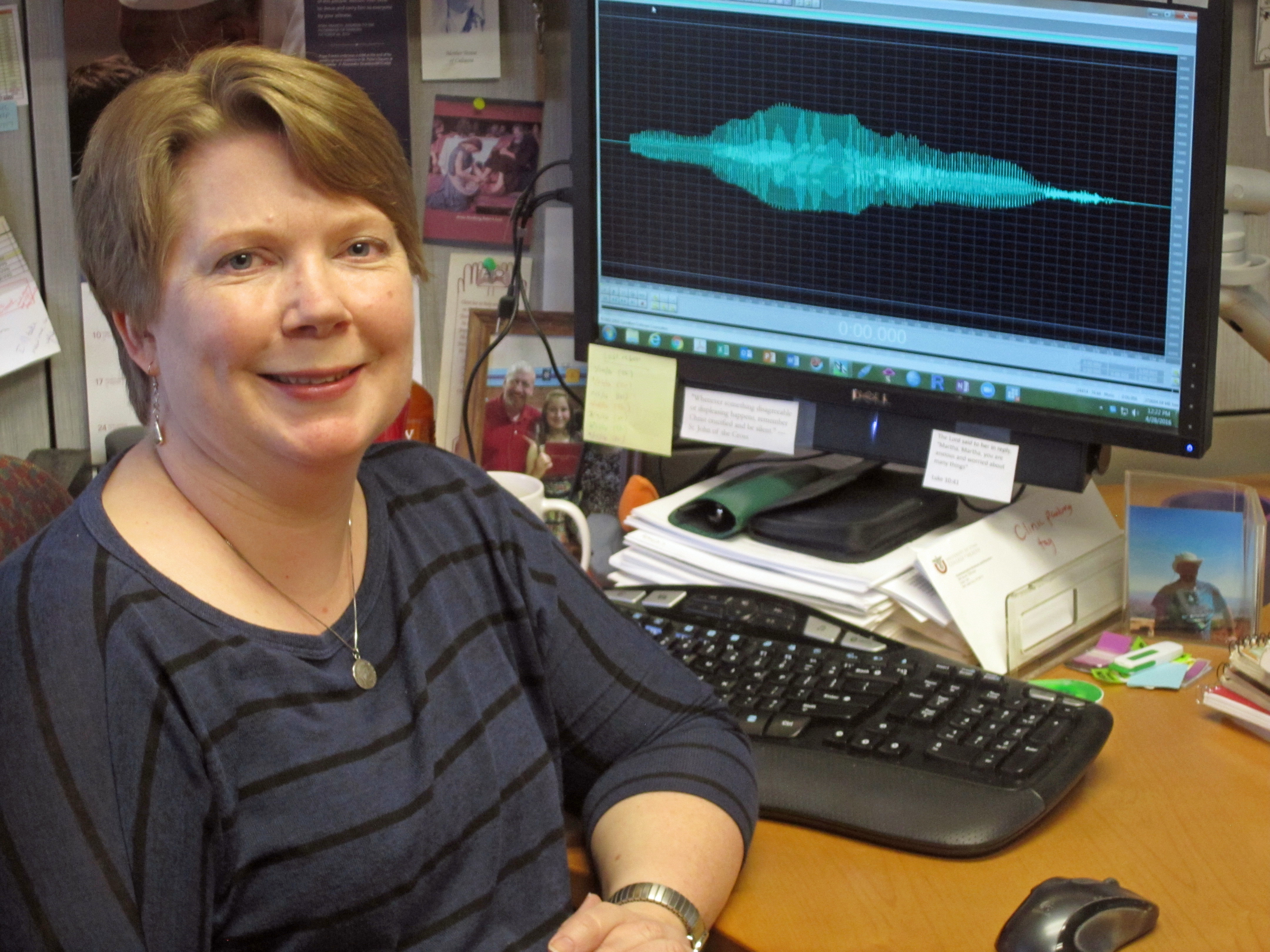Sarah Hargus Ferguson is an associate professor of communication science and disorders at the University of Utah. She led a series of studies with her students that were presented at the national meeting of the Acoustical Society of America in Salt Lake City. The studies dealt with how British accents can confuse older people with hearing impairments, how fast talking can impair intelligibility, and how listeners perceive gender and anger in people's voices.