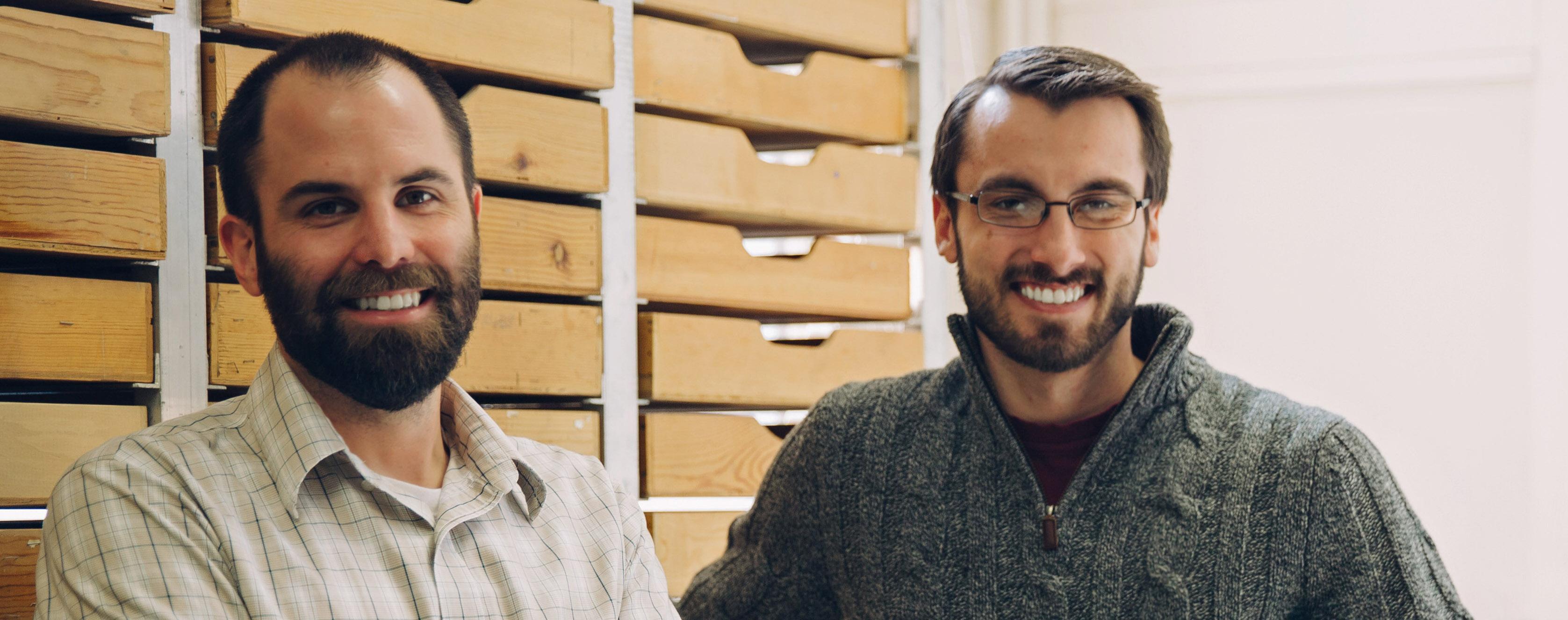 University of Utah anthropologists Brian Codding (left) and Elic Weitzel.
