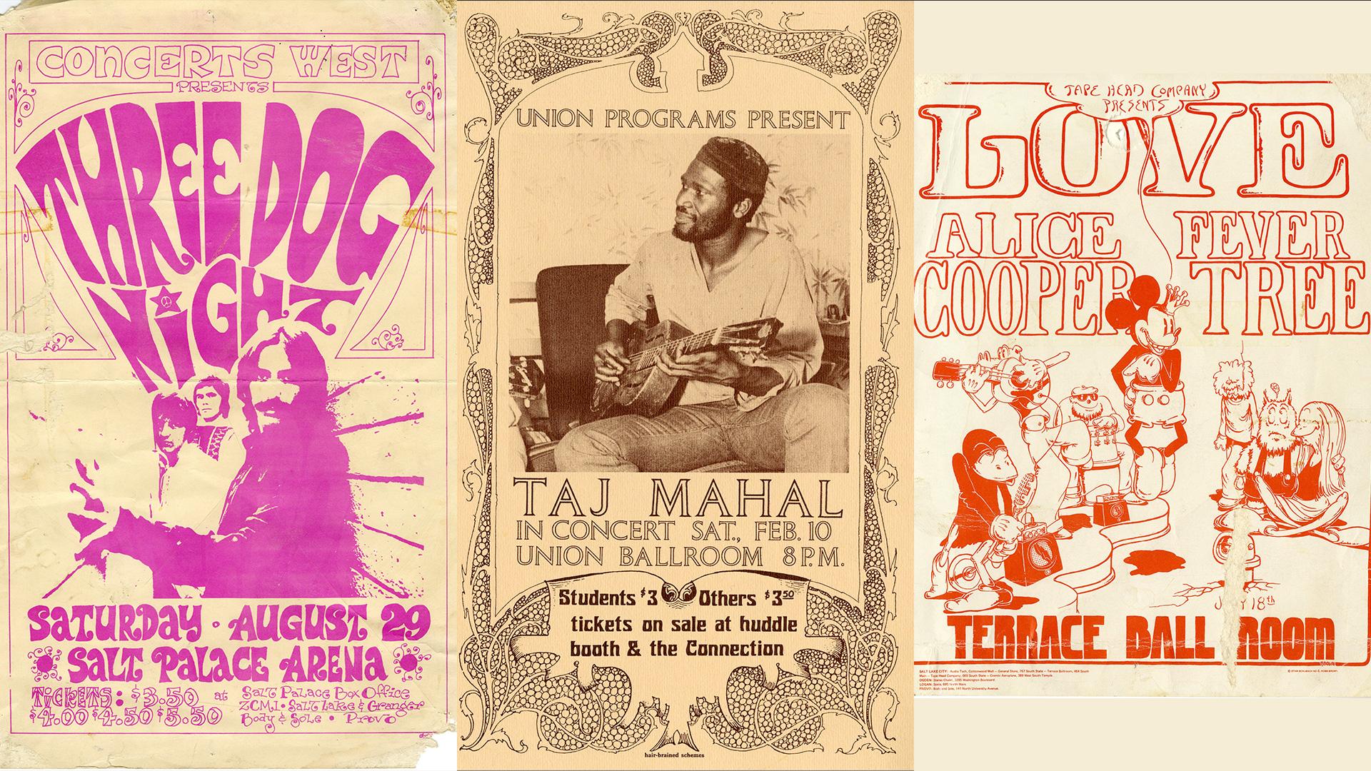 ThreeDogNight_TajMahal_AlicCooper_PosterTrio