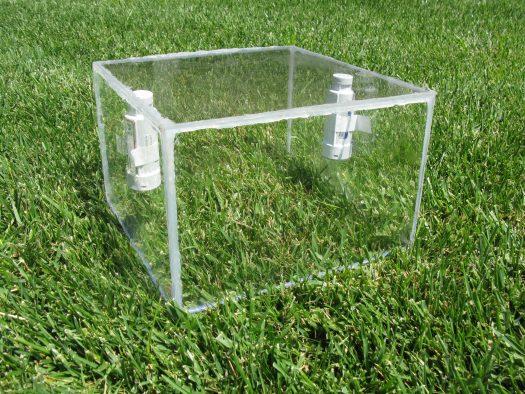 Litvak's mini-chamber used to measure ET in urban lawns.