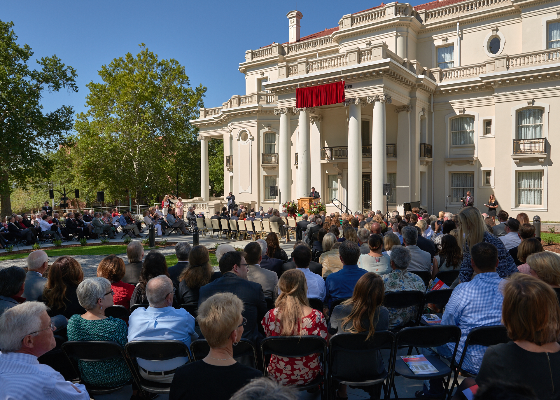 Unveiling event of the University of Utah's new Thomas S. Monson Center.