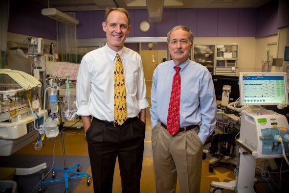 Christian Con Yost, M.D., associate professor of pediatrics and Guy Zimmerman, M.D., professor of internal medicine both at the University of Utah School of Medicine.
