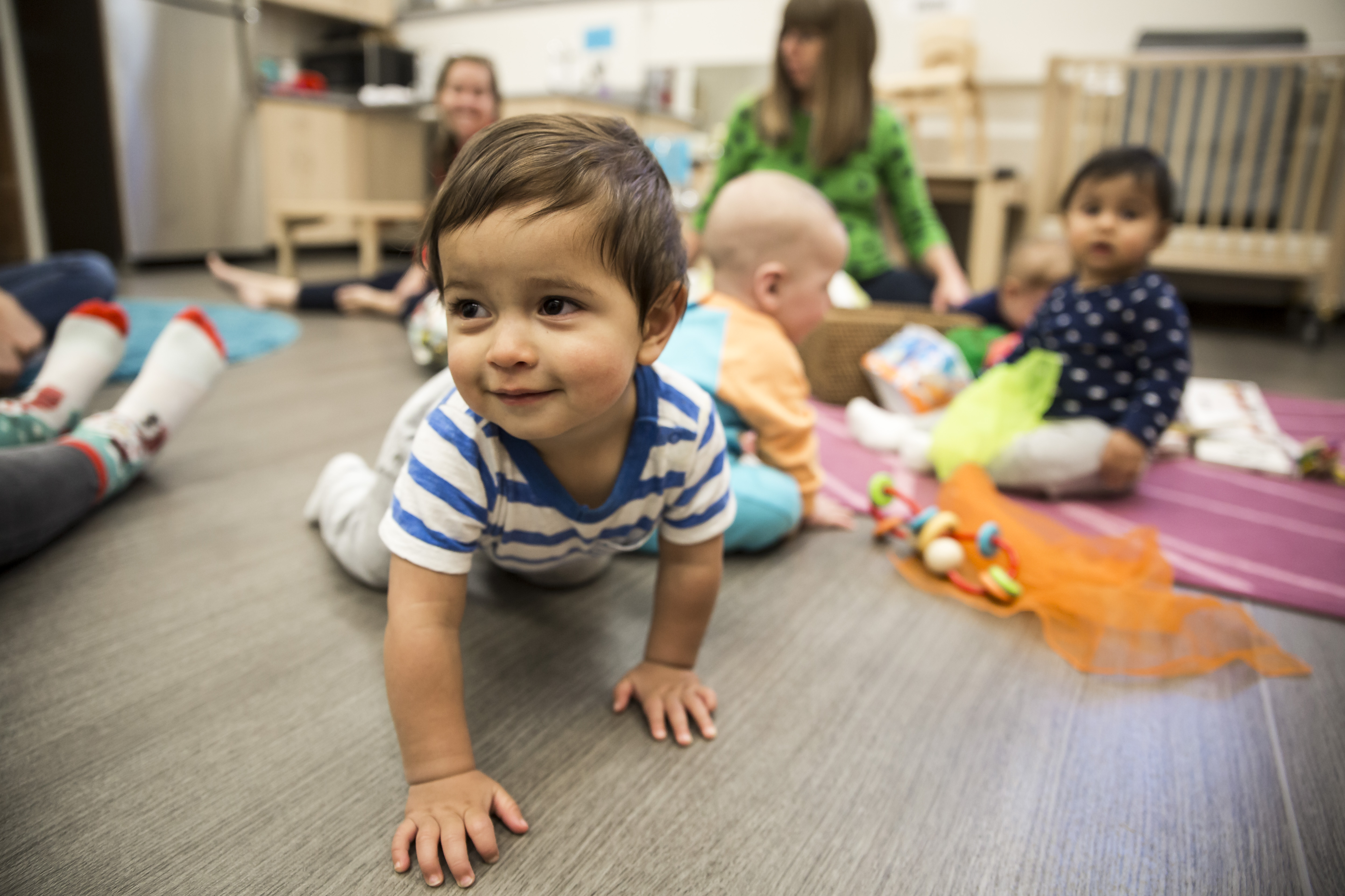 The facility offers infant care for children 12 weeks to 24 months.